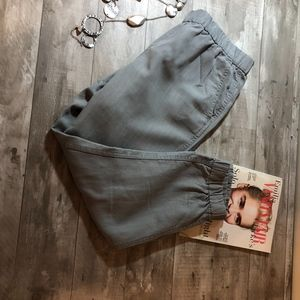 J Crew Khaki Green Linen pants Size 12